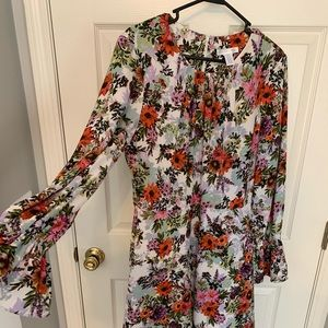 Taylor Floral Dress Cinched Sleeves